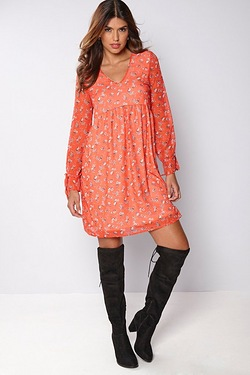 Be You Long Sleeve Tea Dress