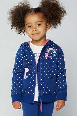 Girls Peppa Pig Zip Hoody