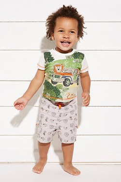Baby Boy's Lion T-Shirt & Short Set