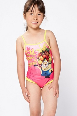 Girl's Minions Swimming Costume