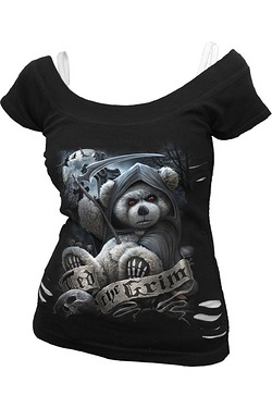 Ted the Grim 2 in 1 Ripped Top