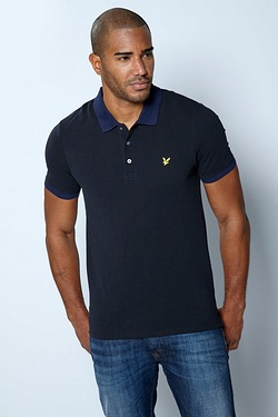Lyle and Scott Contrast Rib Polo Shirt