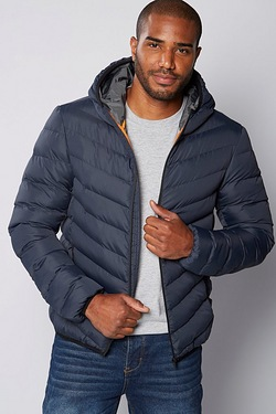 Mens Padded Hooded Jacket