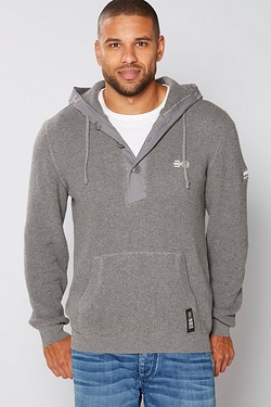 Crosshatch Scapegoat Knitted Hoody
