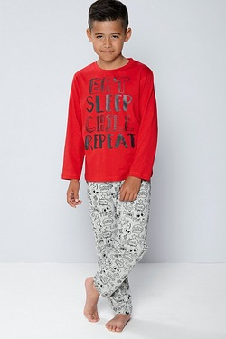 Boys Graffiti Slogan Pyjamas