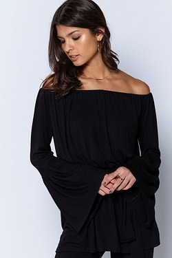 Be You Bardot Long Sleeve Top