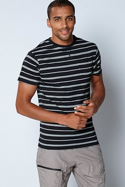 Mens Jacquard Stripe T-Shirt