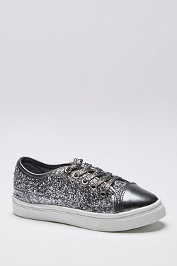 Girls Glitter Sparkle Pump