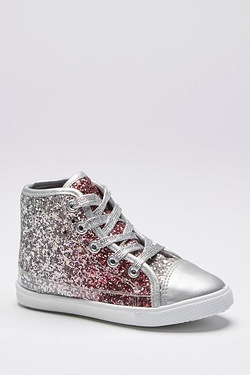 Girls Glitter Ombre Sparkle High Top