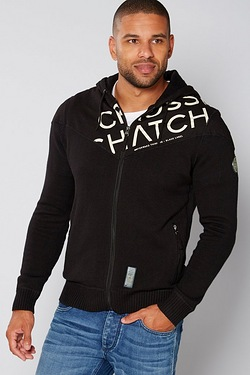 Crosshatch Zip Through Knit Hoody