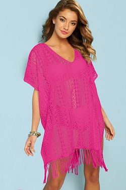Lace Tasselled Beach Cover Up