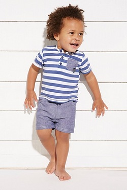 Baby Boy's Striped T-Shirt & Short Set