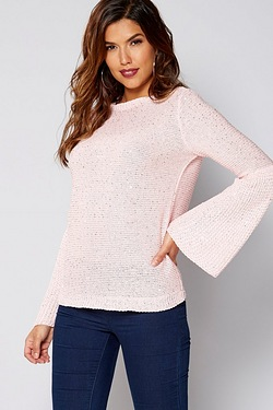 Be You Bell Sleeve Sequin Jumper