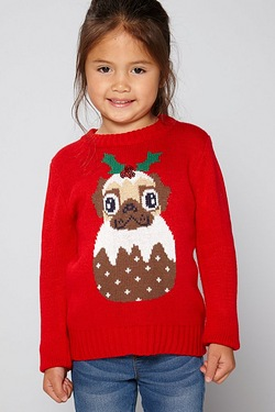 Girls Sequin Christmas Jumper - Chr...