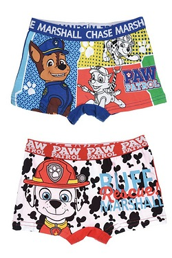 Boys Pack of 2 Paw Patrol Trunks