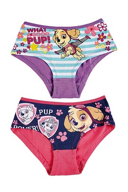 Girls Pack of 2 Paw Patrol Briefs