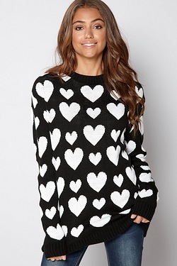 Club L Heart Knitted Jumper