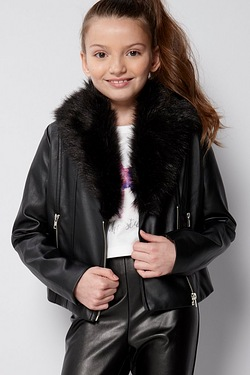Girls Party PU Fur Jacket