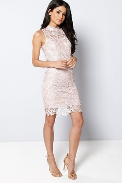 Club L High Crochet Sleeveless Dress