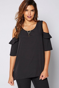 Be You Cold Shoulder Necklace Top