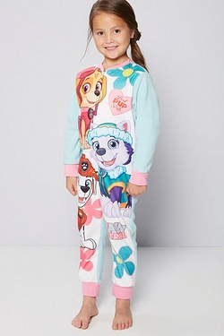 Girls Paw Patrol Fleece Onesie