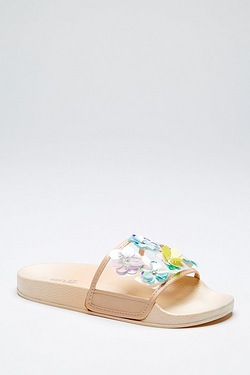 Be You Embellished Slider Sandal