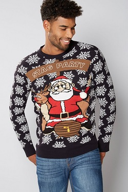Mens Stag Party Christmas Jumper