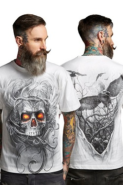 Roots Of Hell White T-Shirt