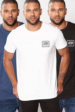 Jack and Jones Pack of 3 T-Shirts