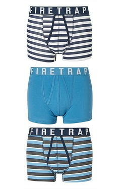 Firetrap A Front Pack Of 3 Boxers