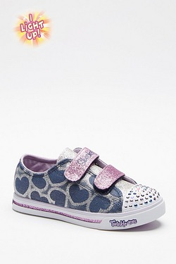 Girls Twinkle Toes Glitter - Hearts