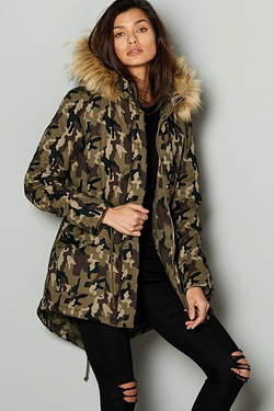 Be You Luxury Parka - Camo