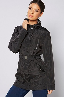 Be You Funnel Neck Belted Jacket