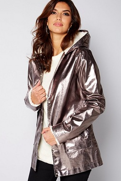 Be You Metallic Borg Trim Coat