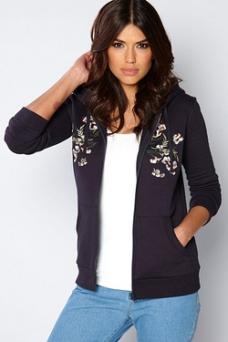 Be You Embroidered Zip Hoody