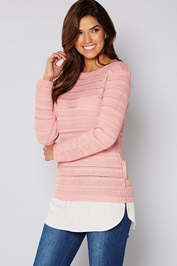 Be You 2-In-1 Pointelle Jumper