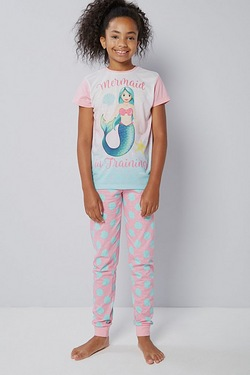 Girls Emoji Mermaid Pyjamas