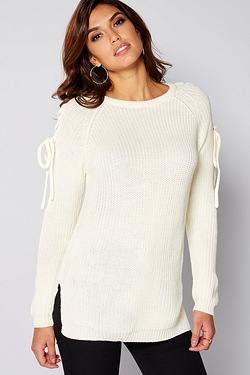 Be You Tie Sleeve Detail Jumper
