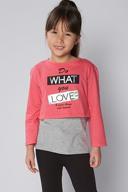 Girls 2-In-1 Do What You Love Top