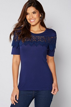 Be You Lace Insert Top