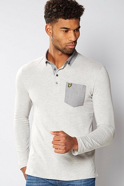 Lyle and Scott Long Sleeve Collar Polo