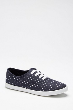 Be You Lace Up Canvas Pump - Navy Spot