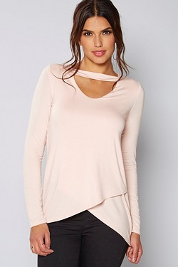 Be You Choker Wrap Front Top