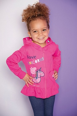 Girls Peppa Pig Love Unicorns Hoody