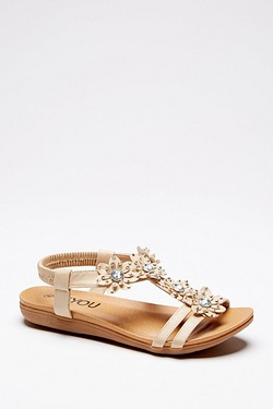 Be You Bling Flower Sandal