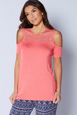 Be You Jersey Lace Top