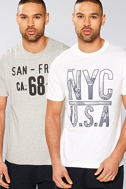 Twisted Gorilla San Fran/NYC Pack Of 2 T-Shirts