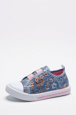 Younger Girls Alana Floral Elasticated Slip On Trainer