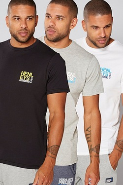 Henleys Pack of 3 T-Shirts