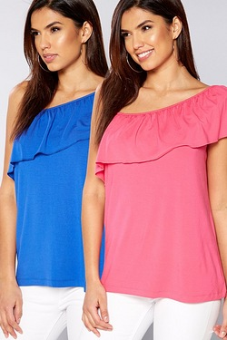 Be You Pack Of 2 Asymmetric Tops
